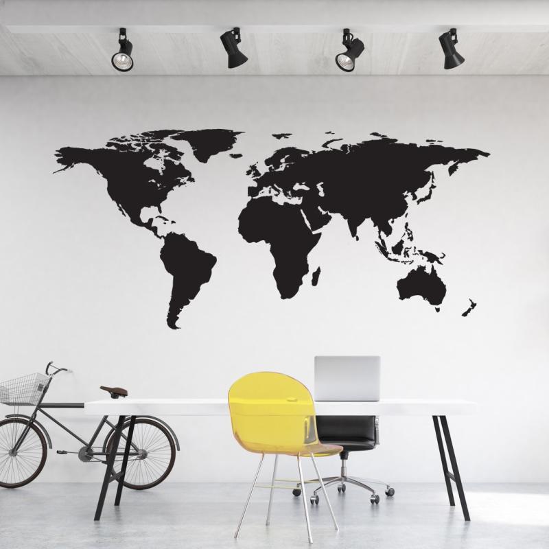 world map wall sticker | mywalltattoos
